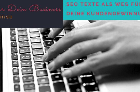 SEO Texte - phänomenaler Game Changer für Dein Business
